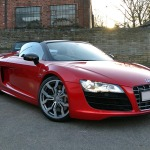 Audi R8 Full Wrap in Kandy Red - Front View