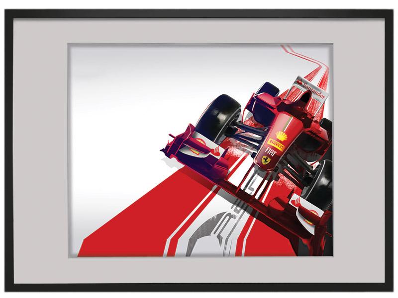F1 Red Ferrari