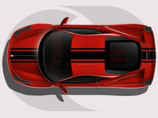 Ferrari 458 Tri Stripe Graphics
