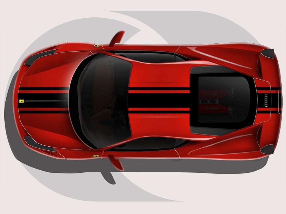 Ferrari 458 Tri Stripe Graphics Reforma Uk