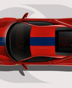 Ferrari 458 Blue Roof Stripe