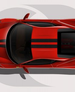 Ferrari 458 Twin Lines Graphic