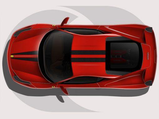 Ferrari 458 Twin Lines Graphic
