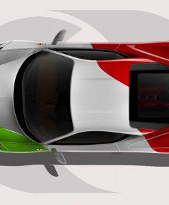 Ferrari 458 Italian Flag Wrap