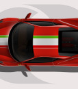 Ferrari 458 Italian Stripe Roof Graphic