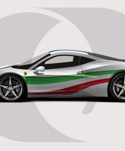 Ferrari 458 Italian Colours Graphic