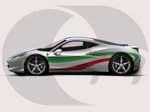 Ferrari 458 Italian Colours Graphic