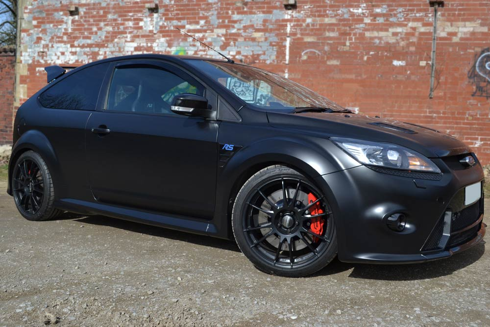 Ford Focus With Satin Black Wrap Wraps By Reforma Uk