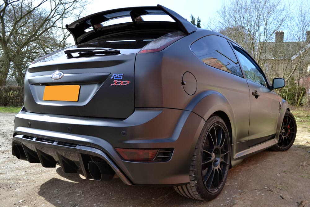 Plastic Wrap Car >> Ford Focus with Satin Black Wrap - Wraps by Reforma UK