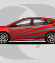 Ford Focus Side Graphics Side Rays