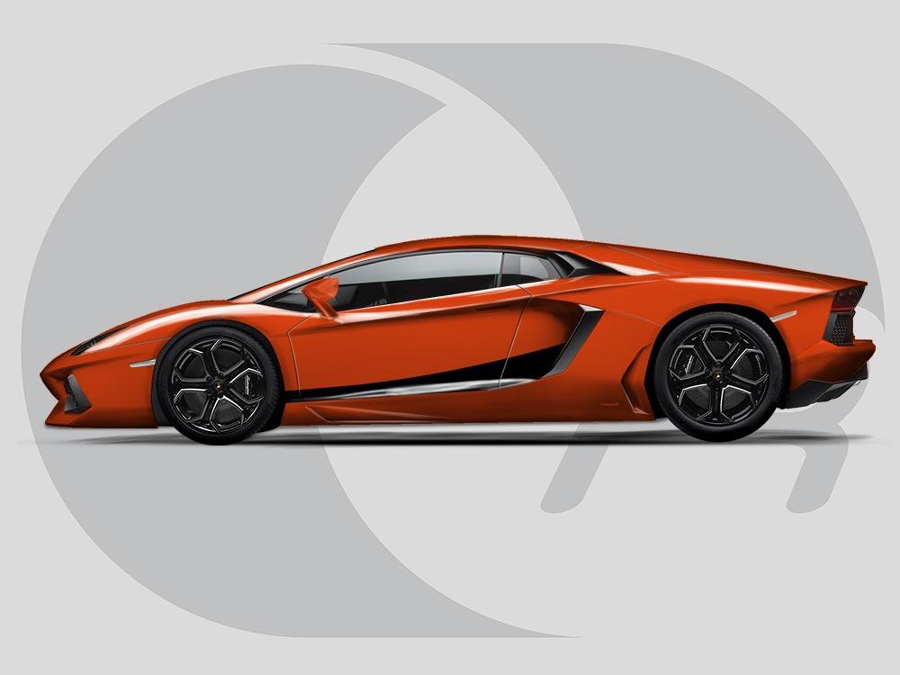  Lamborghini Aventador  - 2D Car Drawing - YouTube  Lamborghini Aventador Drawing Side View