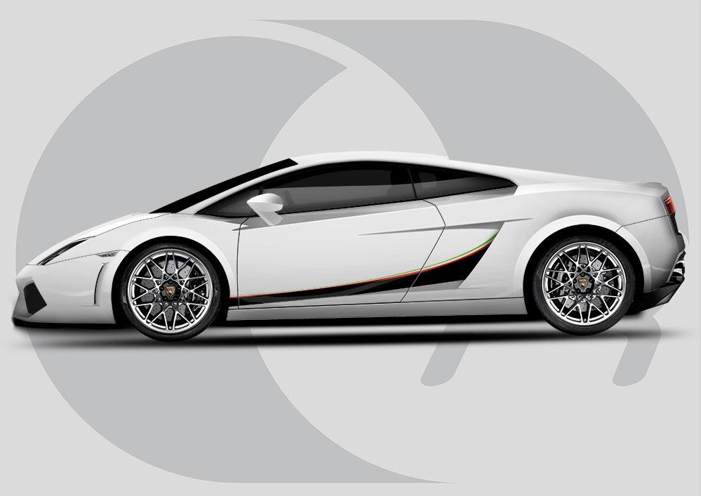 Lamborghini Gallardo Italia Side Graphics