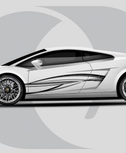 Lamborghini Gallardo Flow Lines Side Graphic