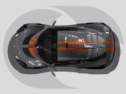 Lotus Exige Roof Graphics Tribal Stripe V2
