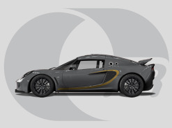 Lotus Exige Side Graphics Feature Line