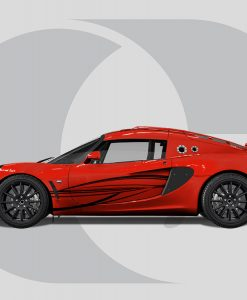 Lotus Exige Side Graphics Flow Lines V2