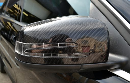 Mercedes C63 AMG Carbon Dipped Mirrors Fitted Left