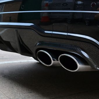 Mercedes C63 AMG Carbon Dipped Rear Diffuser Fitted