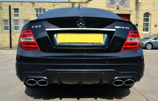 Mercedes C63 AMG Carbon-Dipped Rear Diffuser Straight
