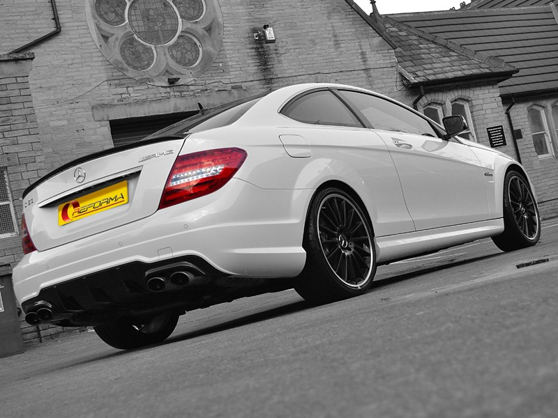 Mercedes C63 Carbon Dipped Rear Spolier