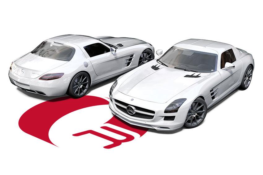 Mercedes SLS AMG Wrap