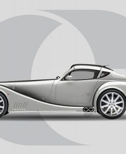 Morgan Aero SuperSports Side Graphics Cracked Rear