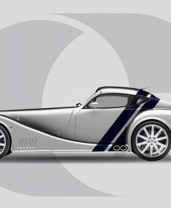 Morgan Aero SuperSports Side Graphics Rear Angled Stripes