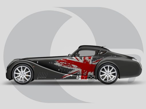 Morgan Aero SuperSports Side Graphics Union Jack