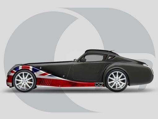 Morgan Aero SuperSports Side Graphics Union Jack Wing