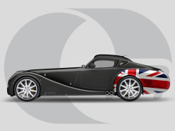 Morgan Aero SuperSports Side-Graphics Union Jack Wing Rear