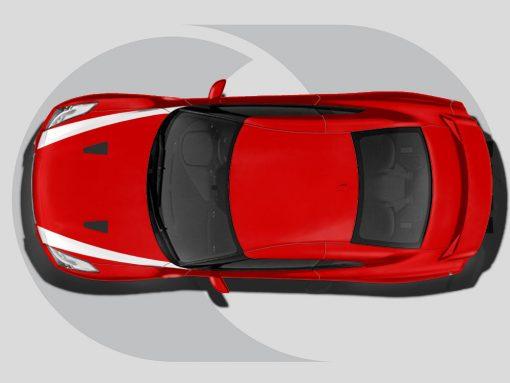 Nissan GTR Roof Graphics Bonnet Highlights