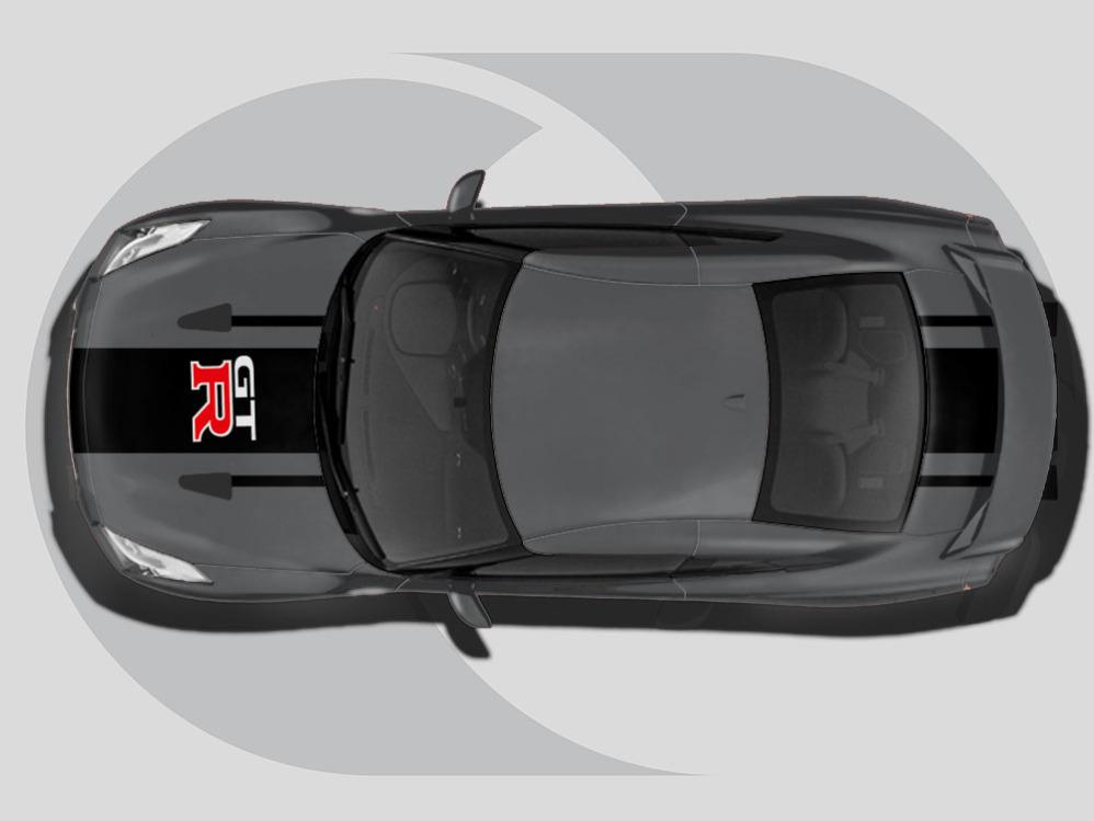 Nissan GTR Roof Graphics GT-R Stripe