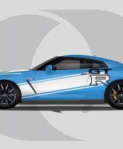 Nissan GTR Side Graphics GT-R Graphic