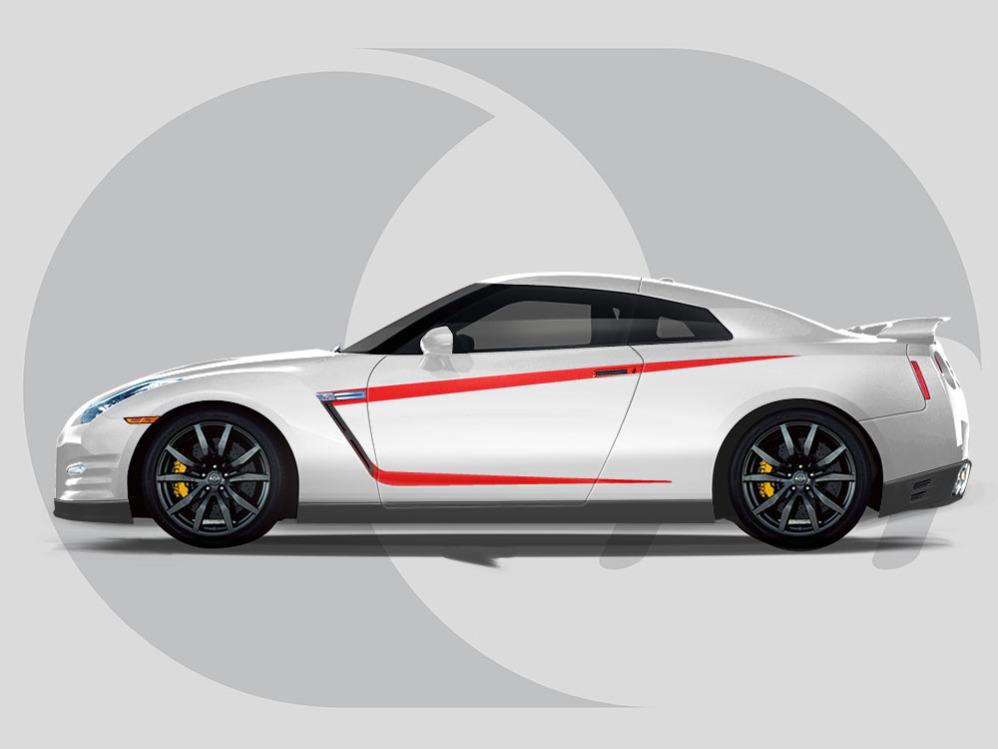 Nissan GTR Side Graphics Vent Highlights
