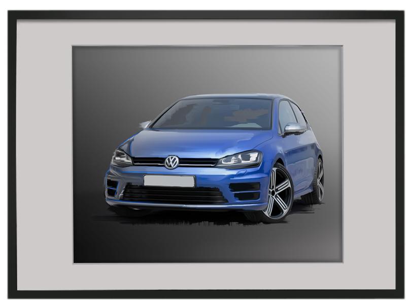 VW Golf R Print