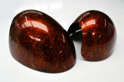 Mini Cooper Wing Mirrors Orange Marble Pair