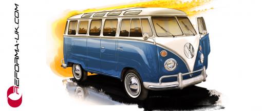 VW Camper Retro Mug
