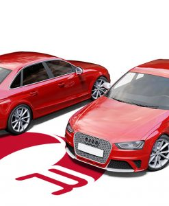 Audi RS4 Cardinal Red Wrap