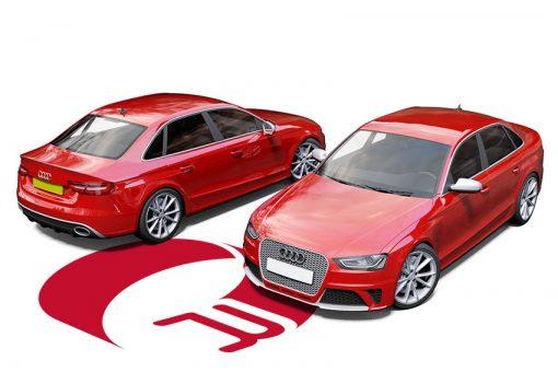 Audi RS4 Cardinal Red Wrap