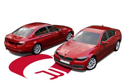 BMW 5 Series Kandy Red Wrap