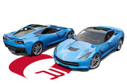 Corvette C7 Light Blue Wrap