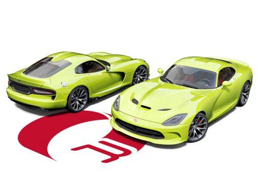 Dodge Viper Lime Green Wrap