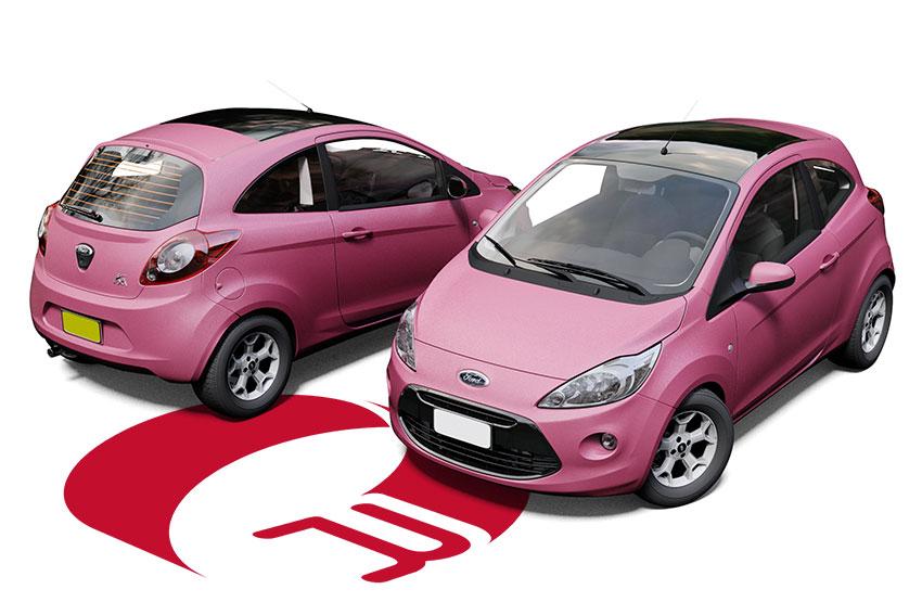 Ford Ka Pink Matte Metallic Wrap