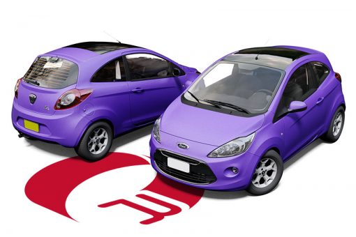 Ford KA Purple Matte Metallic Wrap