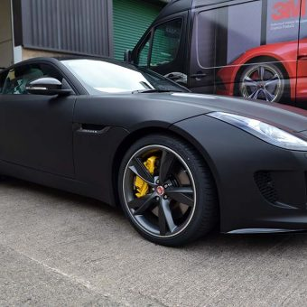 Jaguar F Type Matte Black Front Corner