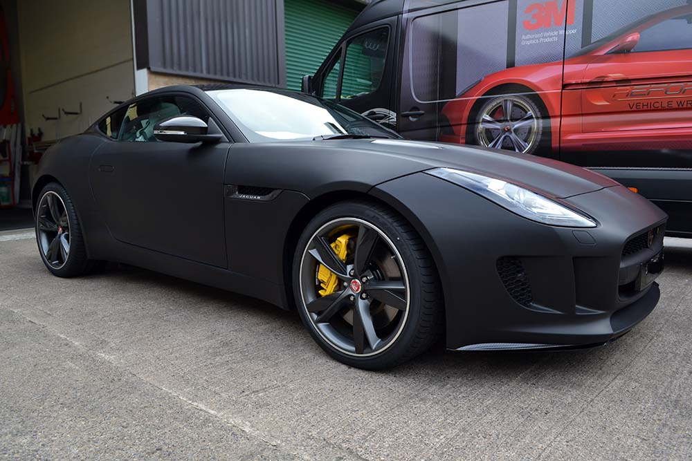 Type by jaguar wrapped in matte black reforma uk