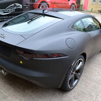 Jaguar F Type Matte Black Rear Corner