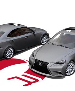 Lexus IS350 Matte Dark Grey Wrap