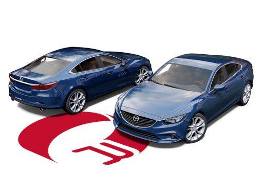 Mazda 6 Dark Blue Metallic Wrap