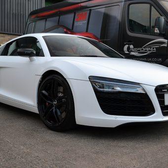 Audi R8 Satin White Angled